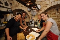 Cookery class in masseria